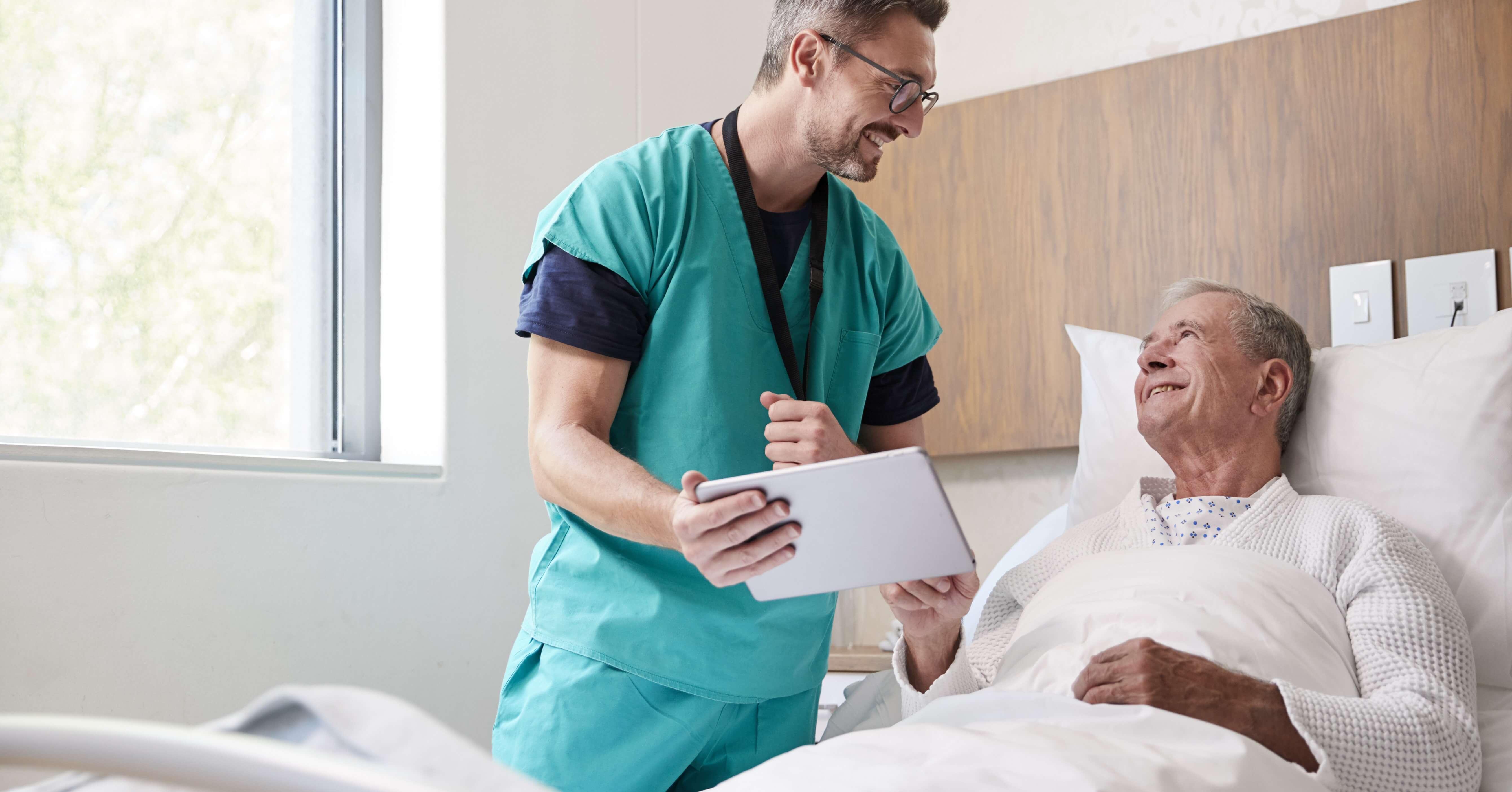 doctor and patient using patient engagement platform
