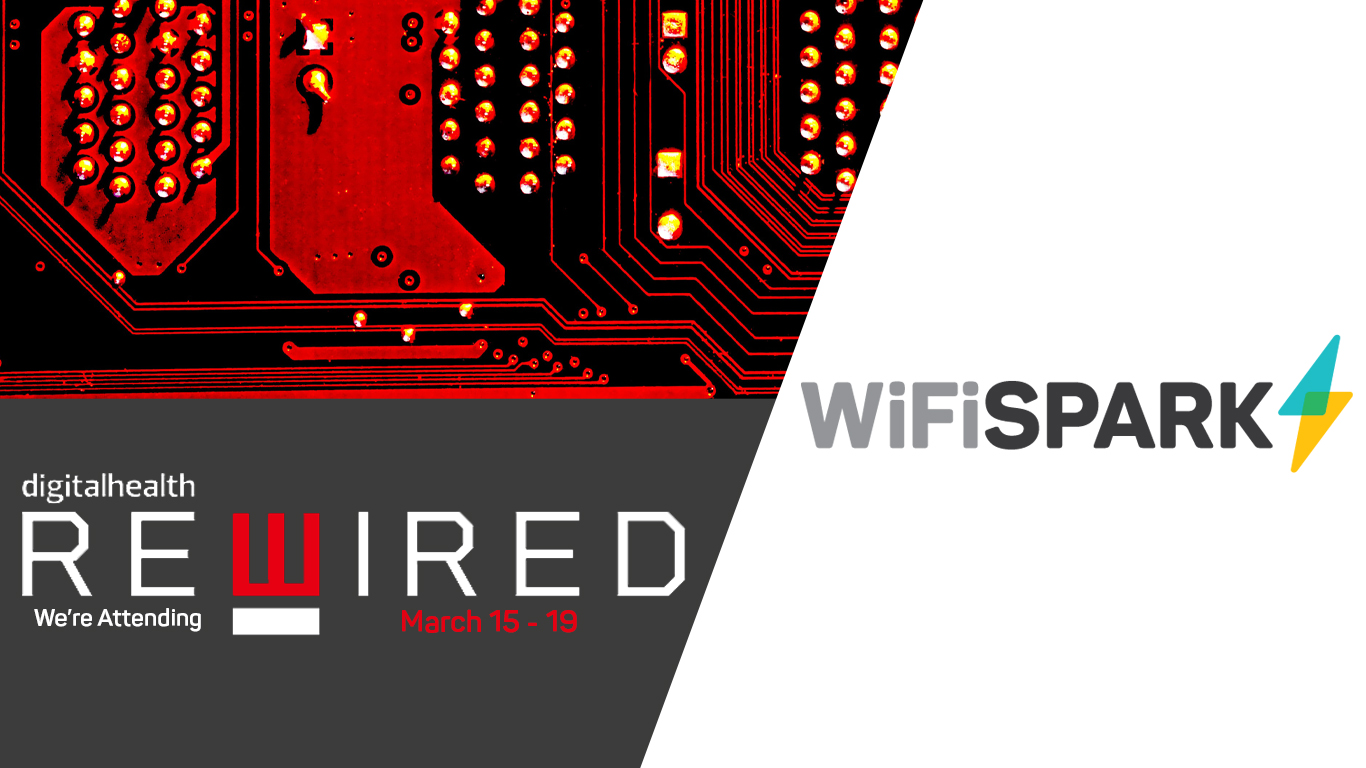 Digital Health Rewired promo image with WiFi SPARK logo.